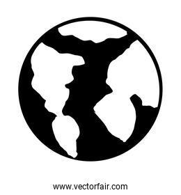 planet earth isolated icon design