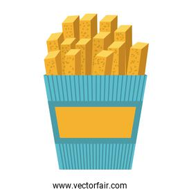delicious french fries isolated icon design