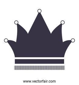 king crown silhouette style icon
