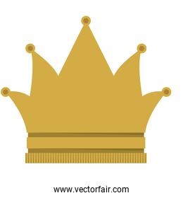 king crown isolated icon design
