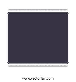 frame square isolated icon design
