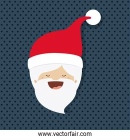 santa claus character with dotted background isolated icon desig