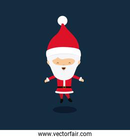 santa claus character isolated icon design