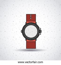 wristwatch isolated icon design