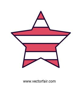 american star isolated icon design