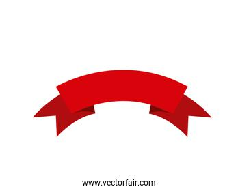 ribbon red isolated icon design