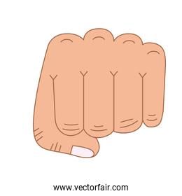 hand fist isolated icon design