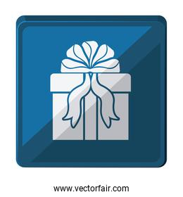 gift box with ribbon isolated icon design