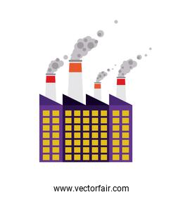 building of industrial plant isolated icon design