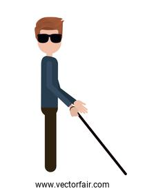 blind person isolated icon design
