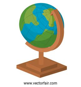 planet earth school isolated icon design