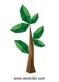 branch low poly isolated design