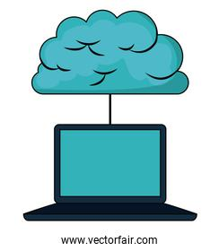cloud computing connection  isolated icon design