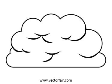 cloud computing concept isolated icon design