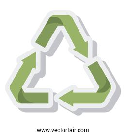 arrows recycle symbol isolated icon
