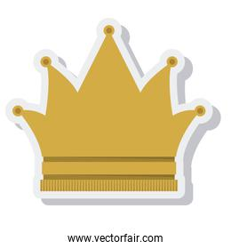 crown queen isolated icon