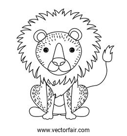 lion cute wildlife icon