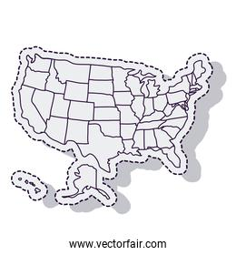 usa map isolated icon vector illustration design