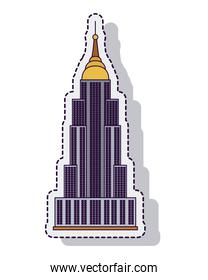 empire state isolated icon vector illustration design