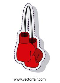 boxing gloves isolated icon vector illustration design