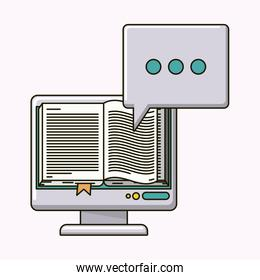 electronic book isolated icon
