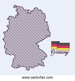 germany map isolated icon