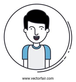 young man avatar isolated icon