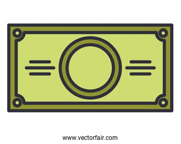 bill money dollar isolated icon