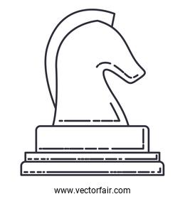 horse chess isolated icon