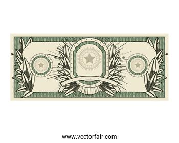 bill dollar print seal isolated icon