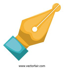 pen tool office isolated icon
