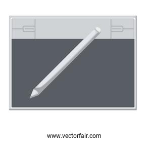 electronic tablet designer isolated icon