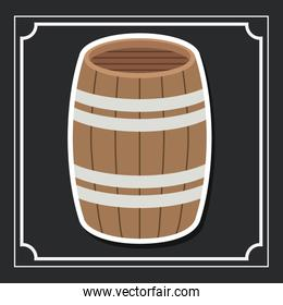 barrel beer drink design