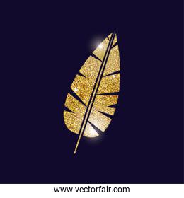 gold feather plume design