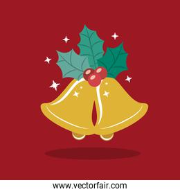Gold bell of Merry Christmas design