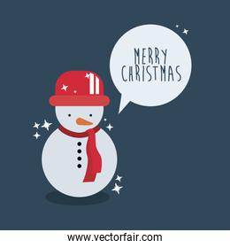 Snowman of Merry Christmas design