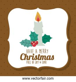 Candle of Merry Christmas design