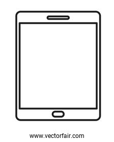Isolated and silhouette tablet design