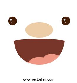 Cartoon face with expression design