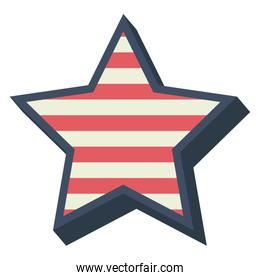 Stars with lines decoration design