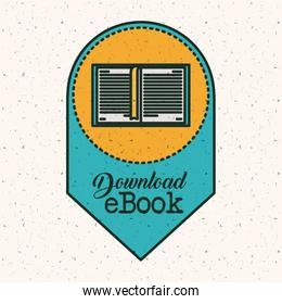 Isolated ebook download design