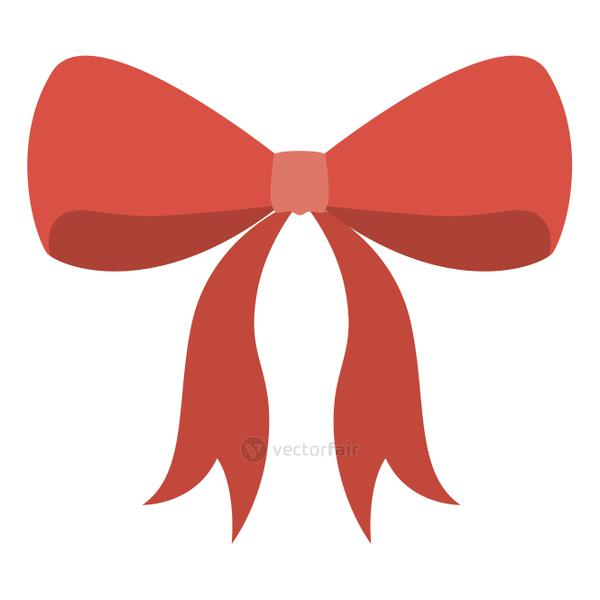 Isolated red bowtie ribbon design