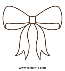 Isolated bowtie ribbon design