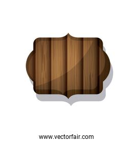 Wood and striped brown frame design