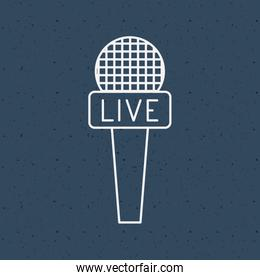 News microphone and media design