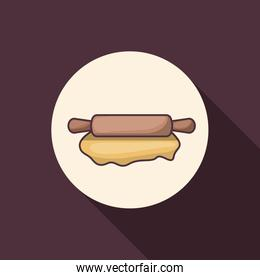 Rolling pin of bakery instrument design