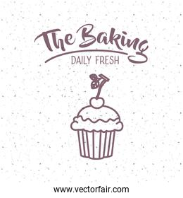 Cupcake of bakery food design