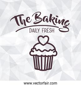 Muffin of bakery food design