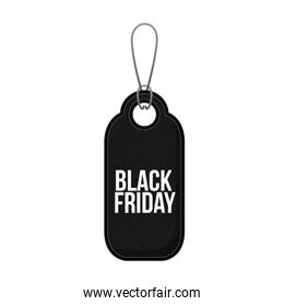 Isolated hanging tag of black friday design