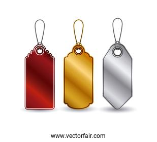 Isolated set of hanging tags design